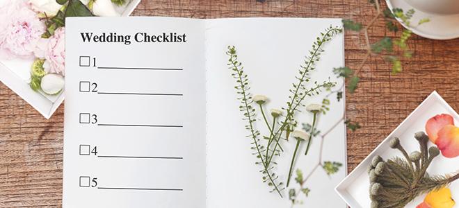 結婚式の準備チェックリスト